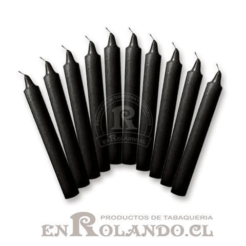 Set de 10 Velas Candelabro Negras
