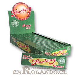 Papelillos Smoking Green 1 1/4 - Display