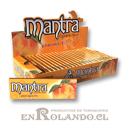 Papelillo Mantra sabor Durazno 1 1/4 - Display