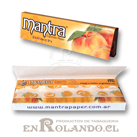 Papelillo Mantra sabor Durazno 1 1/4 - Display