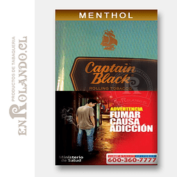 Tabaco Captain Black Menthol 50 Grm. ($8.290 x Mayor)