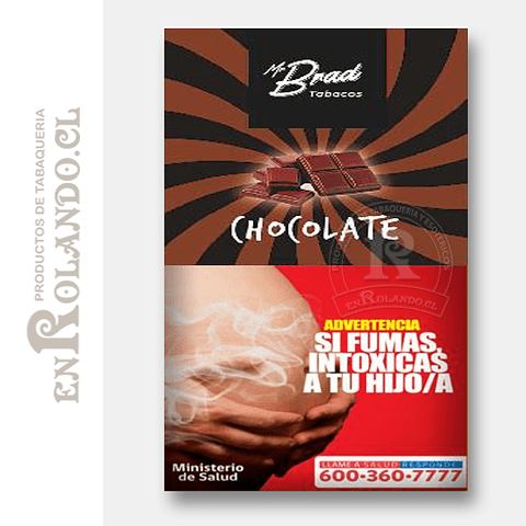 Tabaco Mr Brad Chocolate 20gr ($1.890 x Mayor)