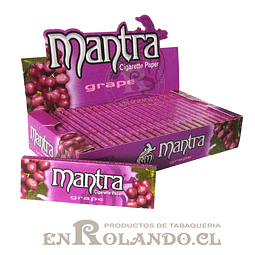 Papelillo Mantra sabor Uva 1 1/4 - Display