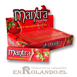 Papelillo Mantra sabor Frutilla 1 1/4 - Display 222