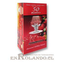 Papelillo Hornet sabor Frutilla 1 1/4 - Display