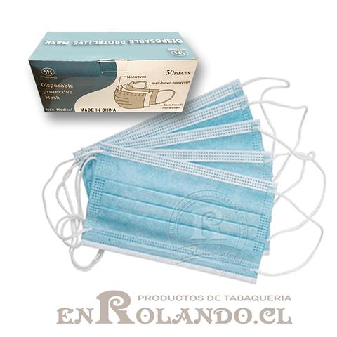 Mascarilla 3 Pliegues - Caja 50 uds.  ($3.990 x Mayor)