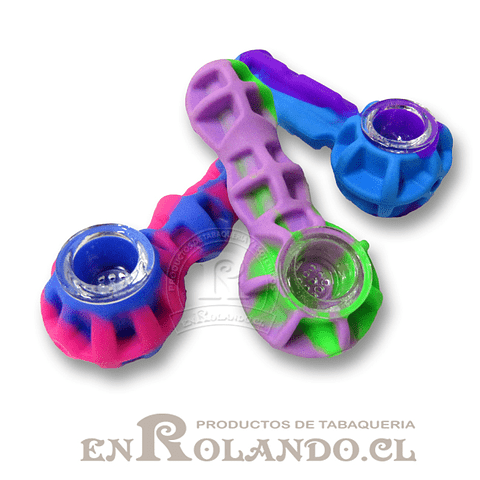 Pipa Silicona Colores ($2.990 x Mayor)