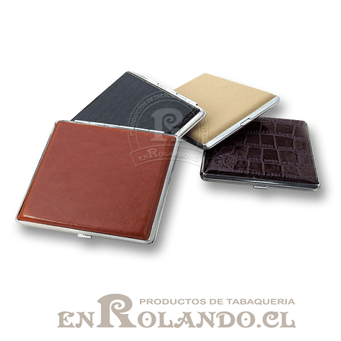 Cigarrera Metal Eco Cuero ($1.990 x Mayor)