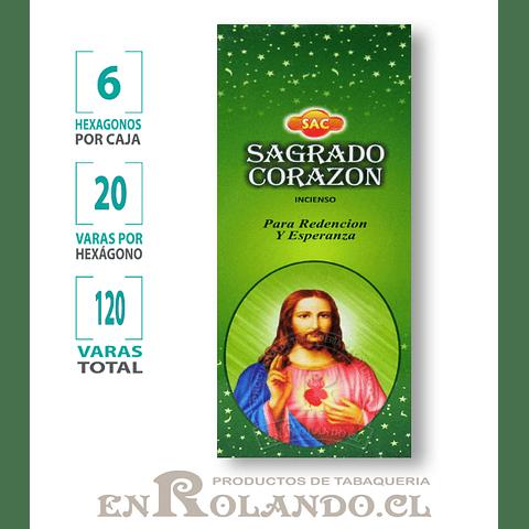 """Incienso SAC """"Sagrado Corazón"""" ($1.600 x MAYOR)- 120 varas"""