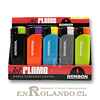 Encendedor Electrónico Ronson Jet Flame Recargable (Soplete) - Display