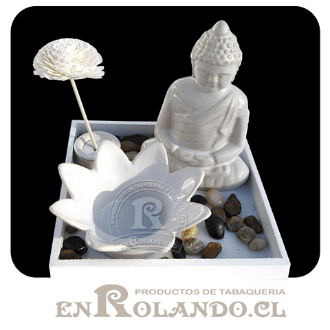 Mini Altar Buda Blanco Floral ($4.990 x Mayor)