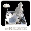 Mini Altar Buda Blanco Floral ($4.990 x Mayor)
