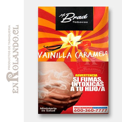 Tabaco Mr Brad Vainilla Caramelo 20gr ($1.890 x Mayor)