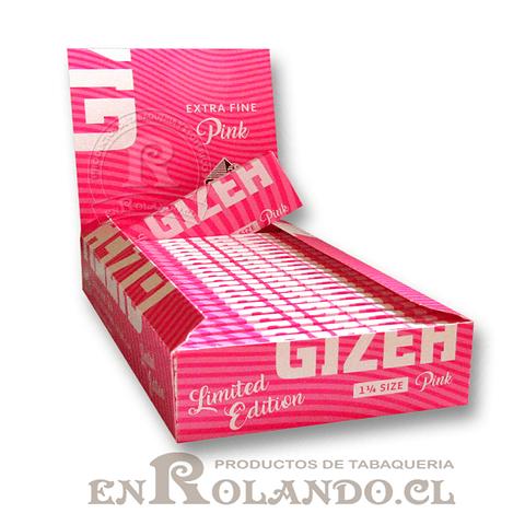 Papelillos Gizeh Pink  1 1/4 - Display ($9.400 x Mayor)