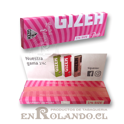 Papelillos Gizeh Pink (Extra Fine) 1 1/4 - Display