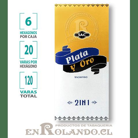 """Incienso SAC """"Plata y Oro"""" - 120 varas"""