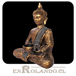 Figura Buda Sentado color Bronce ($9.990 x Mayor)
