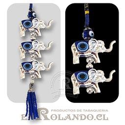 Colgante Elefantes 3 Ojos Turco ($1.490 x Mayor)