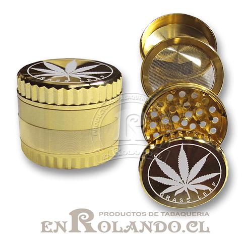 Moledor Metálico Dorado #51 - 3 Pisos ($3.900 x Mayor)