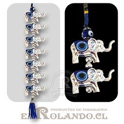 Colgante Elefantes 7 Ojos Turco ($2.490 x Mayor)