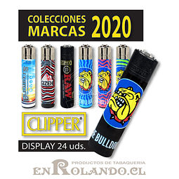"Encendedor Clipper ""Marcas"" Diseños - Display"