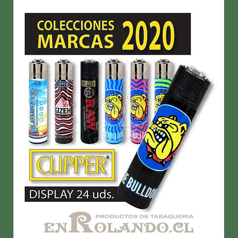 """Encendedor Clipper """"Marcas"""" Diseños - Display"""