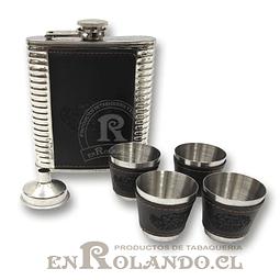 Petaca de Aluminio y Eco Cuero #175 ($6.990 x Mayor)