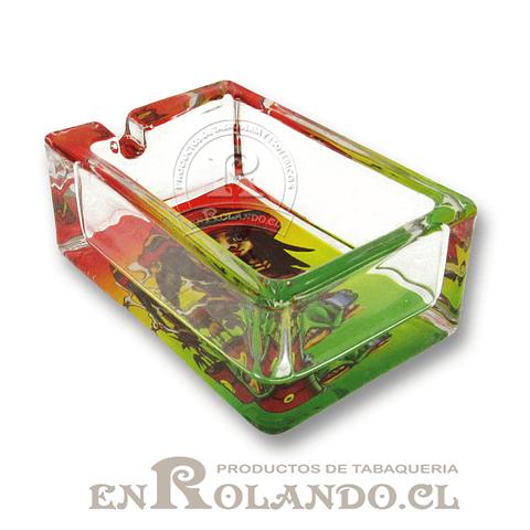 Cenicero de Vidrio Rectangular - Diseños ($1.250 x Mayor)