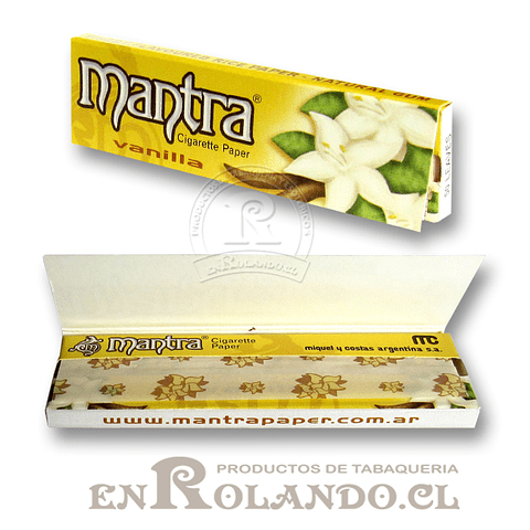 Papelillo Mantra sabor Vainilla 1 1/4 - Display