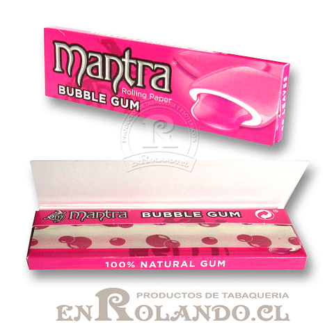 Papelillo Mantra sabor Bubble Gum 1 1/4 - Display