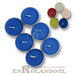 Velas Tealight Colores - Set de 6 ($690 x Mayor)