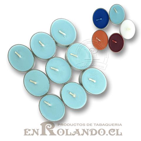 Velas Tealight Colores - Set de 9 ($990 x Mayor)