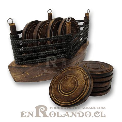 Barco Posa Vasos Madera ($4.990 x Mayor)