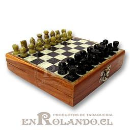 Tablero Ajedrez Madera y Piedra 16 cm ($19.990 x Mayor)