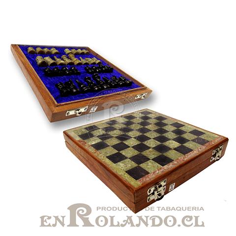 Tablero Ajedrez Madera y Piedra 20,5 cm ($24.990 x Mayor)