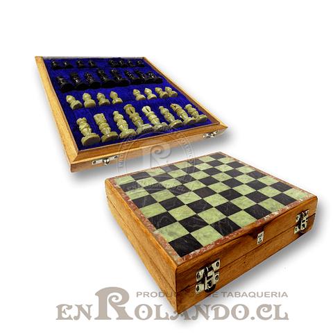 Tablero Ajedrez Madera y Piedra 25 cm ($29.990 x Mayor)