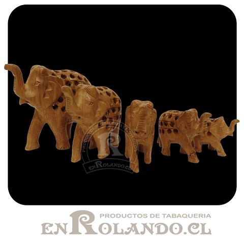 Set 5 Elefantes Tallados #678 ($9.990 x Mayor)