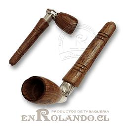 Pipa Madera y Metal Corta #06 ($1.490 x Mayor)