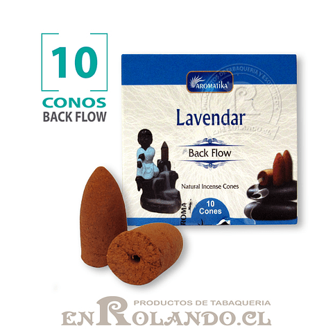 "Caja 10 Conos Cascada ""Lavanda"" ($750 x Mayor)"