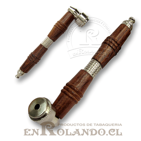 Pipa Madera y Metal Larga #06 ($1.990 x Mayor)