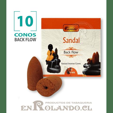 "Caja 10 Conos Cascada ""Sándalo"" ($750 x Mayor)"
