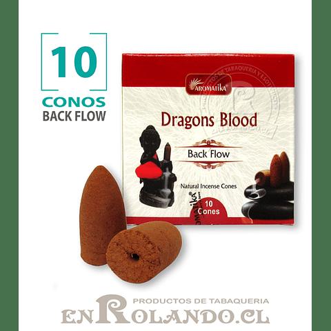 "Caja 10 Conos Cascada ""Sangre de Dragón"" ($750 x Mayor)"