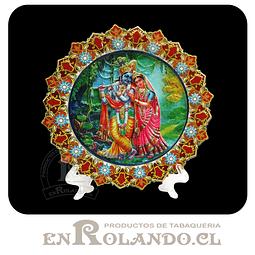 Plato Decorado Krishna y Radha en Relieve ($2.990 x Mayor)
