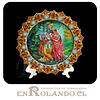 Plato Decorado Krishna y Radha en Relieve ($3.990 x Mayor)