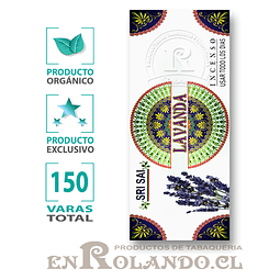 Incienso Orgánico Lavanda ($3.990 x Mayor)