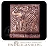 Porta Llaves Cubierta en Metal Labrado #01 ($2.990 x Mayor)