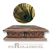 Caja Decorativa Cubierta en Metal Labrado #16 ($7.990 x Mayor)