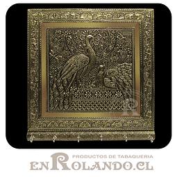 Porta Llaves Cubierta en Metal Labrado #Mix ($7.990 x Mayor)