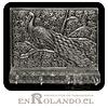 Porta Llaves Cubierta en Metal Labrado #03 ($7.990 x Mayor)