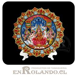Plato Decorado 3 Dioses Hindú ($2.990 x Mayor)